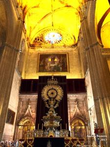 Altar de Juan Laureano de Pina. Siglo XVII, Catedral de Sevilla. Corpus de 2013